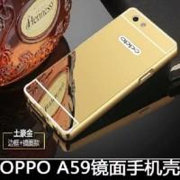 Case Bumper Slide Oppo F1S A59 Mirror Hard Pc