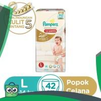 Pampers Popok Celana Premium Care L-42 [P&G]