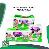 Merries M 34 / L 30 / XL 26 Paket 2 bal