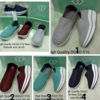 New!! Sepatu Rajut / Anyam Wedges OGGO 516