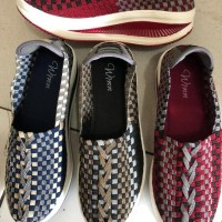 Winn 171 sepatu IMPORT wedges anyaman rajut wanita ORI