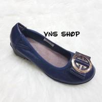 Sepatu Wanita Clarks Wedges 328 Navy
