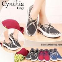 New!! Sepatu Rajut Wedges Cynthia H852
