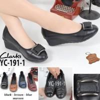 Sepatu Wanita Sepatu Wedge Sepatu Kulit Asli Sepatu Kerja Sepatu Impor
