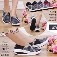 New!! Sepatu Rajut Wedges Cynthia H049
