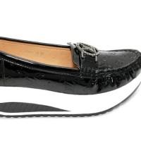 Sepatu Wedges Ivory 8088-35 Black