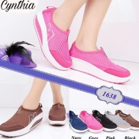 New!! Sepatu Rajut Wedges Cynthia 1638