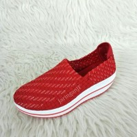 OGGO NEW Sepatu Rajut Wanita / Sepatu WEDGES / OGGO ORIGINAL 517