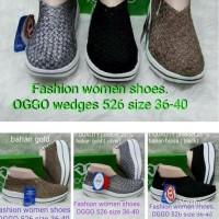 OGGO Sepatu Rajut Wedges type 526