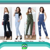 Overall Jeans EMMA RIPPED (Lapis Furing)