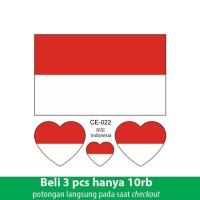 Temporary Tato Stiker Muka Bendera Indonesia Tatto Wajah