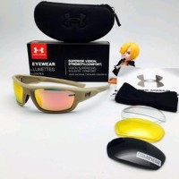 Kacamata Fashion Pria Under Armour Full Set Free 3 Lens Diskon