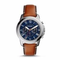 Jam Tangan FOSSIL Grant Chronograph Light Brown Leather ORI FS5210