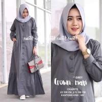 Jual Baju Muslim Dress Wanita - Baju Wanita Crown Maxi Diskon