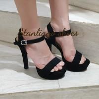 sandal high heels pesta stanliano 985-1 hitam