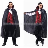 kostum halloween Drakula pria set lengkap cosplay