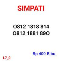 Nomor Cantik Simpati 0812 1818 814 Seri Double AB 1818 ,11 Digit #H-9