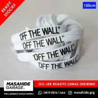 SHOELACES VANS CUT AND PASTE - OFF THE WALL 120cm - TALI SEPATU WHITE