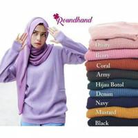 Atasan Cewek Modis Sweater Roundhand Wanita Baju Rajut Best Seller