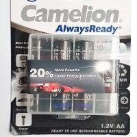 Camelion Battery Rechargeable AA 2000 Bp2+Case