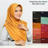 MA 006 Hijab Isaura Instan Jersey Jilbab Pet Kancing - Hitam