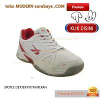 NO 43 SPOTEC DEXTER PUTIH MERAH sepatu pria olahraga tenis kets sneake