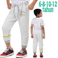 Celana Training Anak Laki Fleece Abu Original Distro 6 8 10 12 Tahun