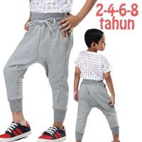 Celana Training Anak Laki-laki Fleece Abu Distro Branded 2 4 6 8 Tahun