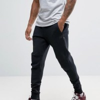 CELANA JOGGER PANJANG / SWEATPANTS / TRAINING NEW BALANCE LOGO HITAM