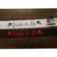Sash selempang bride to be / Queen of the day / bridal shower renda