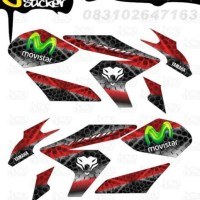 M40 Decal Sticker Vixion NVL Striping Techno decal motor stiker