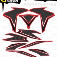 L65 Decal Sticker Vario FI Striping Carbon Stylish decal motor stiker