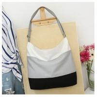 TS56 Korea Origin Solid color Canvas Tote Shoulder bag / Tas selempang