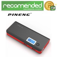 Pineng Power Bank 2 Port 10000mAh with Flashlight - PN-968 - Hitam