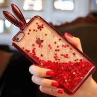 Iphone 6+ glitter rabbit soft case cover liquid cute tpu water 6 plus