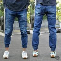 Celana Jogger jeans pria