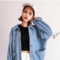 blazer coat army korea k pop style vintage luaran jaket
