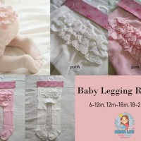 BABY LEGGING RENDA / BABY STOCKING / LEGGING BAYI / STOCKING BAYI - L 18-24m, Putih