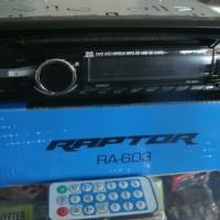 PLAYER TERBAIK New tape Mobil RAPTOR CD DVD usb mp3