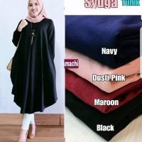 Baju Atasan Wanita Syuga Tunik Blouse Baju Muslim Blus Muslim - Hitam