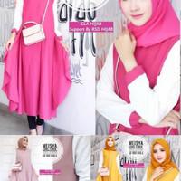 baju Tunik Atasan Wanita Blouse Baju Muslim Blu