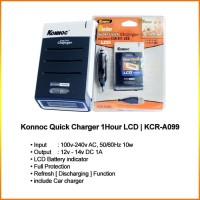Konnoc Quick Charger 1 jam LCD KCR-A099