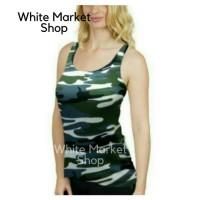 BEST Kaos Tank Top/Singlet Tanktop Dalaman Wanita Cewek Army/Tentara