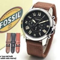Termurah Jam Tangan Pria Fossil Canvas Freebox+Tali Chrono Variasi