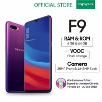 OPPO F9 Smartphone 4GB/64GB Starry purple ( garansi resmi OPPO )