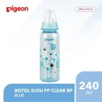 PIGEON Botol Susu PP Clear RP 240Ml - Blue
