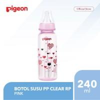 PIGEON Botol Susu PP Clear RP 240Ml - Pink