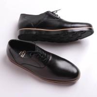 SWANSEA BLACK Flavio Boston Sepatu Pria Kulit Asli Pantofel Formal