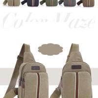 Tas kecil selempang tas slempang pria sling bag backpack kanvas