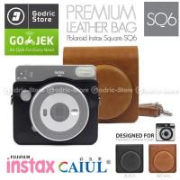 Fujifilm Leather Bag Polaroid Instax SQUARE SQ6 Tas Case Kamera SQ 6 - Hitam
